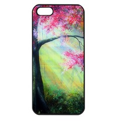 Forests Stunning Glimmer Paintings Sunlight Blooms Plants Love Seasons Traditional Art Flowers Apple iPhone 5 Seamless Case (Black)