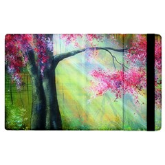 Forests Stunning Glimmer Paintings Sunlight Blooms Plants Love Seasons Traditional Art Flowers Apple iPad 3/4 Flip Case