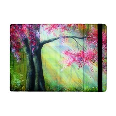 Forests Stunning Glimmer Paintings Sunlight Blooms Plants Love Seasons Traditional Art Flowers Apple iPad Mini Flip Case