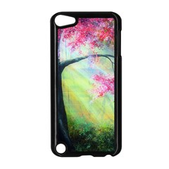 Forests Stunning Glimmer Paintings Sunlight Blooms Plants Love Seasons Traditional Art Flowers Apple iPod Touch 5 Case (Black)