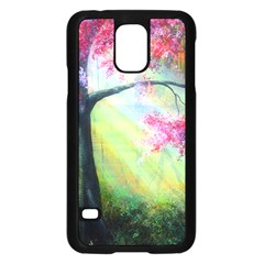 Forests Stunning Glimmer Paintings Sunlight Blooms Plants Love Seasons Traditional Art Flowers Samsung Galaxy S5 Case (Black)