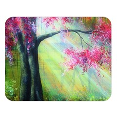 Forests Stunning Glimmer Paintings Sunlight Blooms Plants Love Seasons Traditional Art Flowers Double Sided Flano Blanket (Large)