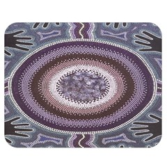 Spirit Of The Child Australian Aboriginal Art Double Sided Flano Blanket (Medium)