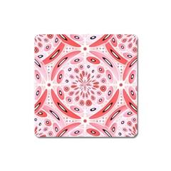 Geometric Harmony Square Magnet