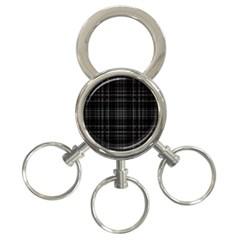 Plaid design 3-Ring Key Chains