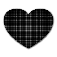 Plaid design Heart Mousepads