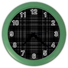 Plaid design Color Wall Clocks