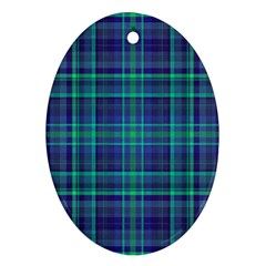 Plaid design Ornament (Oval)