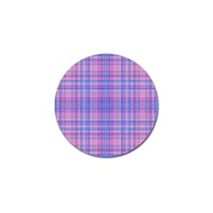 Plaid design Golf Ball Marker