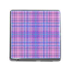 Plaid design Memory Card Reader (Square)