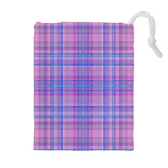 Plaid design Drawstring Pouches (Extra Large)