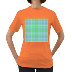 Plaid design Women s Dark T-Shirt