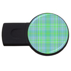 Plaid design USB Flash Drive Round (4 GB)