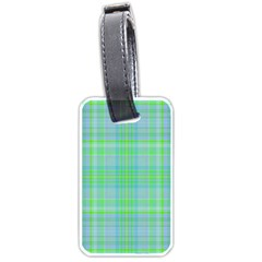Plaid design Luggage Tags (One Side)