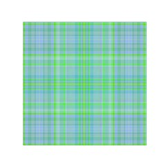 Plaid design Small Satin Scarf (Square)