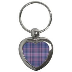 Plaid design Key Chains (Heart)