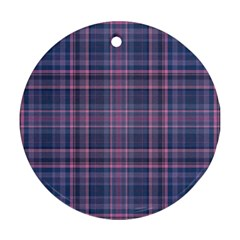 Plaid design Round Ornament (Two Sides)