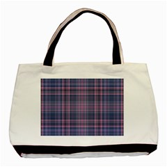 Plaid design Basic Tote Bag (Two Sides)