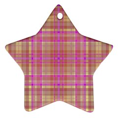 Plaid design Ornament (Star)