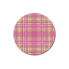 Plaid design Magnet 3  (Round)