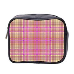 Plaid design Mini Toiletries Bag 2-Side