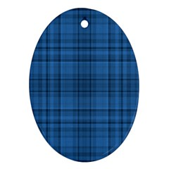 Plaid design Oval Ornament (Two Sides)