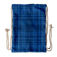 Plaid design Drawstring Bag (Large)