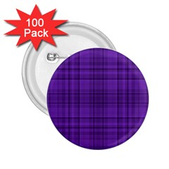 Plaid design 2.25  Buttons (100 pack)
