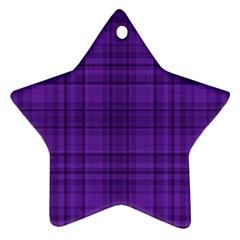 Plaid design Star Ornament (Two Sides)