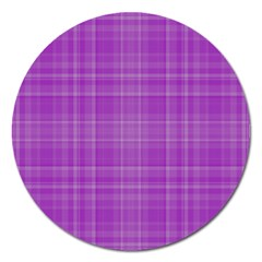 Plaid design Magnet 5  (Round)