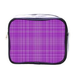 Plaid design Mini Toiletries Bags