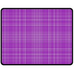 Plaid design Fleece Blanket (Medium)