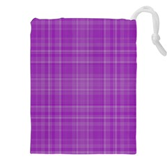Plaid design Drawstring Pouches (XXL)