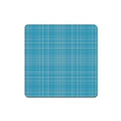 Plaid design Square Magnet