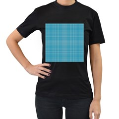 Plaid design Women s T-Shirt (Black) (Two Sided)