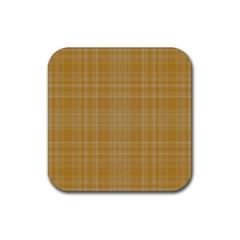 Plaid design Rubber Coaster (Square)