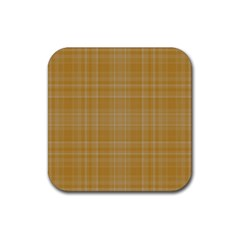 Plaid design Rubber Square Coaster (4 pack)