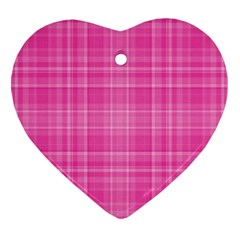 Plaid Design Ornament (heart)
