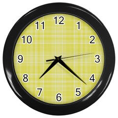 Plaid design Wall Clocks (Black)