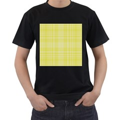 Plaid design Men s T-Shirt (Black) (Two Sided)