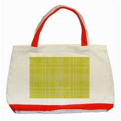 Plaid design Classic Tote Bag (Red)