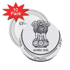 Seal Of Indian State Of Punjab 2 25  Buttons (10 Pack)