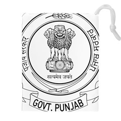Seal Of Indian State Of Punjab Drawstring Pouches (xxl)