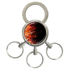 Fire 3-Ring Key Chains