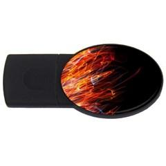 Fire USB Flash Drive Oval (2 GB)