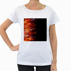 Fire Women s Loose-Fit T-Shirt (White)