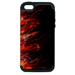 Fire Apple Iphone 5 Hardshell Case (pc+silicone)