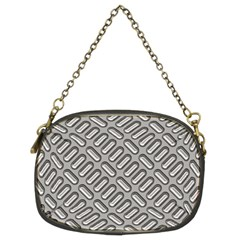 Grey Diamond Metal Texture Chain Purses (Two Sides)