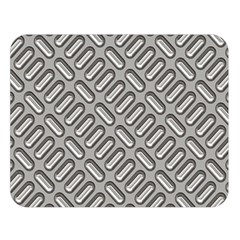Grey Diamond Metal Texture Double Sided Flano Blanket (Large)