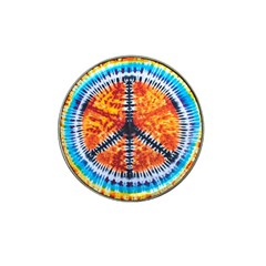 Tie Dye Peace Sign Hat Clip Ball Marker (10 pack)